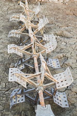 aerator: aerator in dry soil