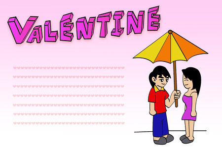 swain: valentine Postcard Stock Photo