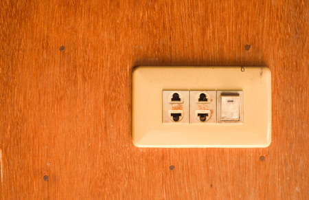 Old electrical outlet 版權商用圖片