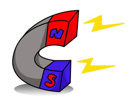 magnet cartoon Stok Fotoğraf