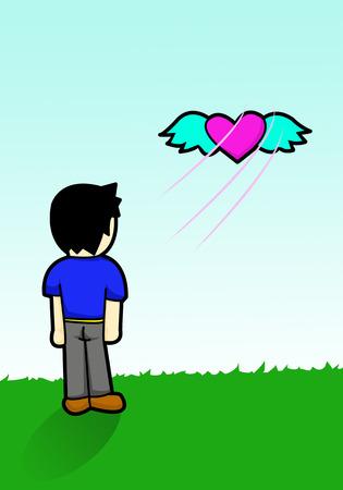 空に浮かぶ心を解放します。