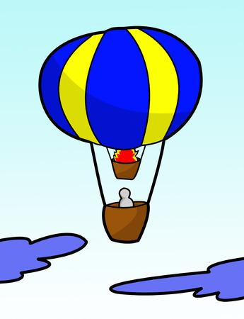 illustratie ballon cartoon Stockfoto