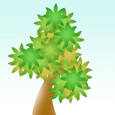 tree cartoon Zdjęcie Seryjne