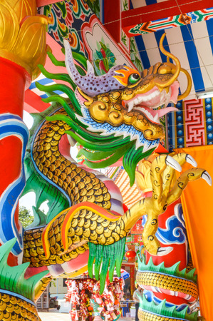 tradition: Golden Chinese Dragon  Editorial