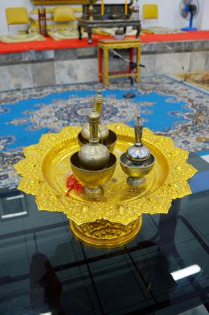 pour ceremonial water  photo