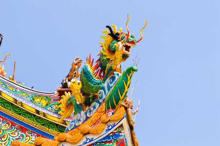 Chinese dragon on the roofs