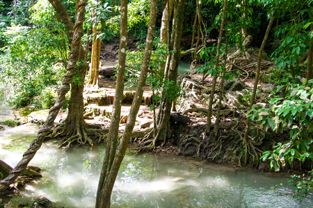 Erawan waterfall at Kanchanaburi