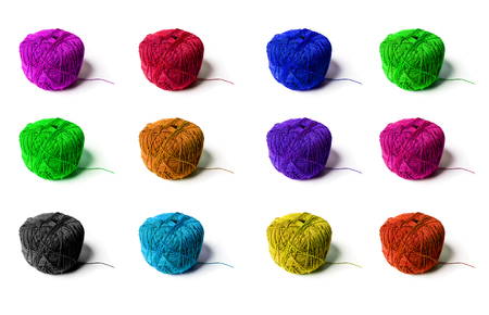 colorful yarn photo