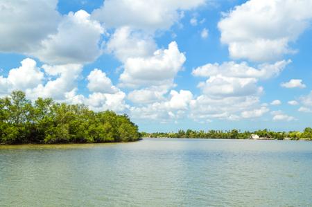 chachoengsao: Bangprakong river in chachoengsao, thailand  Stock Photo