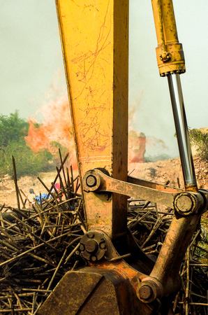art hand heavy excavator loader