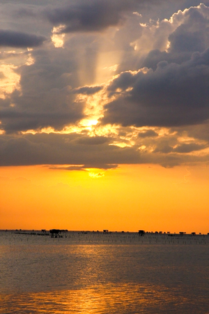 Sea sunset in thailand