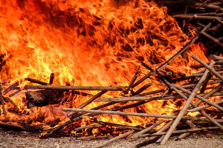 total loss: fire burn wood