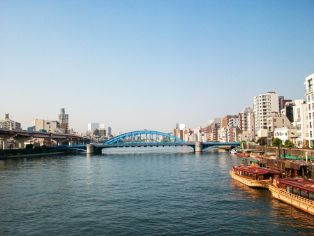 sumida: view in Tokyo river