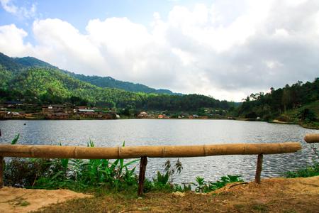 Ban Rak Thai, een Chinese nederzetting in provincie Mae Hong Son, Noord-Thailand