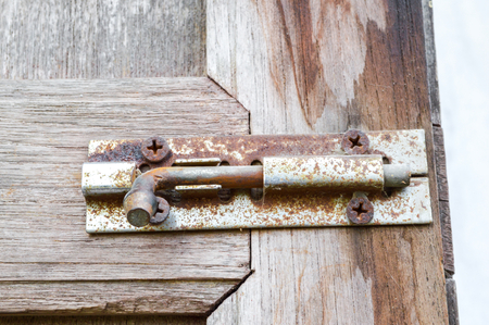 old latch on the door  photo
