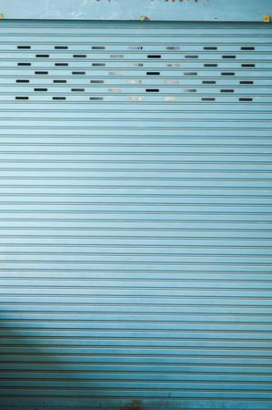 Gray Sliding steel door  Stock Photo