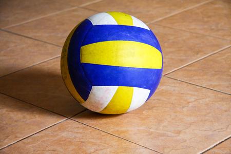 Volleyball on floor