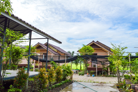 architecture bungalow: Khlong Preng Homestay in Chachoengsao Thailand