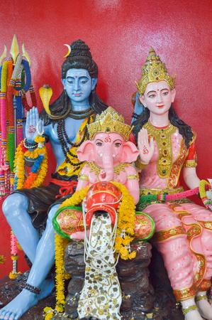family Ganesha status in Thailand temple photo