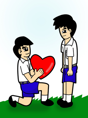 boy student cartoon  photo