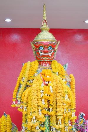 Jambhala statue or Vessavana Statue in Saman temple, thailand photo