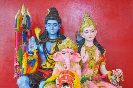 mahabharata: family Ganesha status in Thailand temple