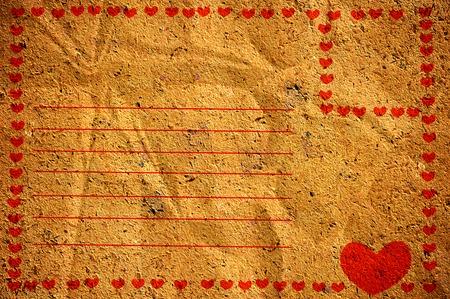 Oude papieren envelop Stockfoto