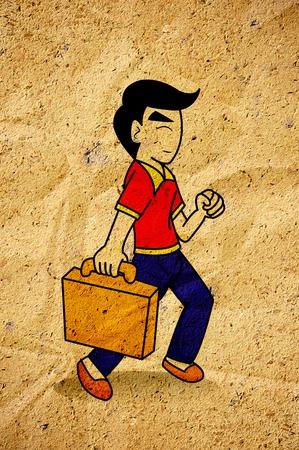 commute to work cartoon Banco de Imagens