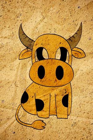 cartoon bruine koe