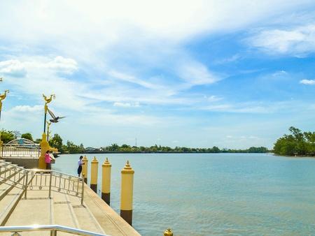 Bang Pra Kong river in Chachoengsao, Thailand.