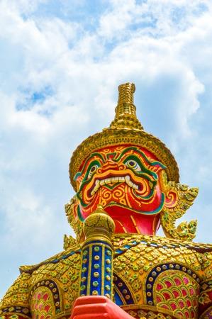 Gaint Guardian at Wat Phra Kaew photo