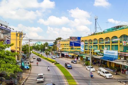 chachoengsao: road car in Chachoengsao city, Thailand