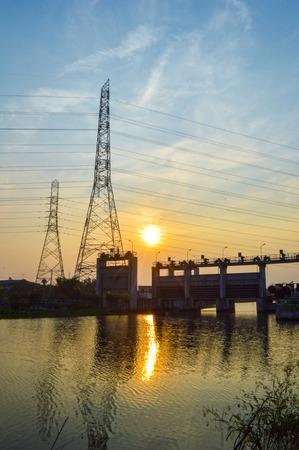 chachoengsao: waterfront at dam Klong preng, chachoengsao, thailand Editorial