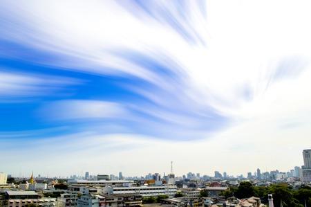 Top view in Bangkok city