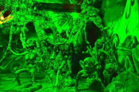 Hell simulation in Wat phuetudom