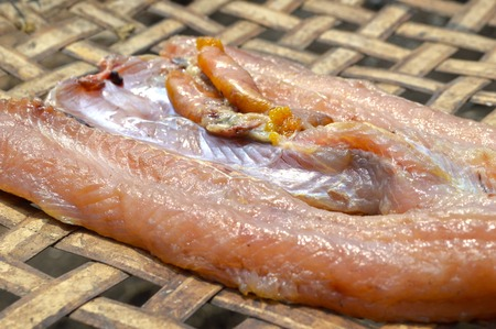 common snakehead: salted fish Stock Photo