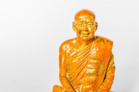gouden Boeddhabeeld op witte achtergrond Stockfoto