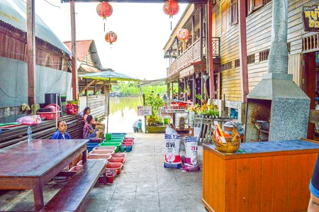 chachoengsao: Ban Mai floating market in Chachoengsao thailand Editorial