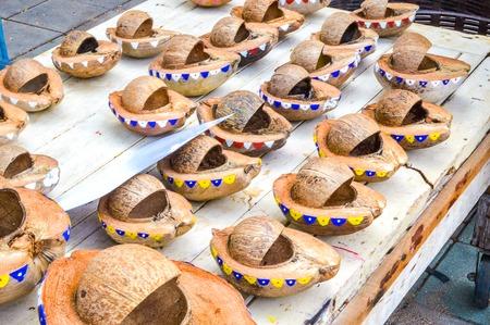 coconut Krathong Stok Fotoğraf