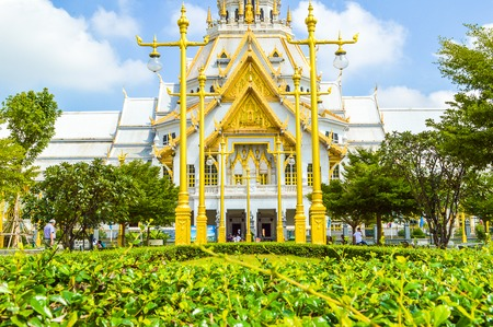 Wat Sothon Taram Worawinhan in Chachoengsao Thailand 版權商用圖片