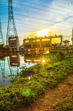 chachoengsao: waterfront at dam Klong preng, chachoengsao, thailand Stock Photo