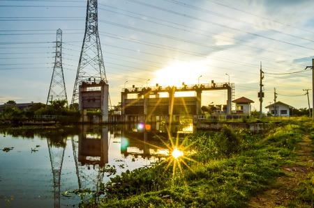 klong: waterfront at dam Klong preng, chachoengsao, thailand Stock Photo
