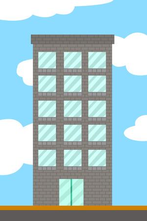 cartoon building tower Imagens