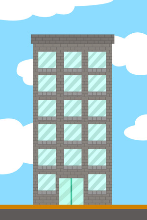 office building: cartoon building tower Stock Photo