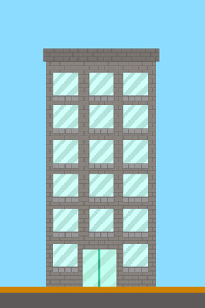 cartoon building tower Stock fotó