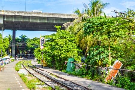 railway in bangkok Thailand