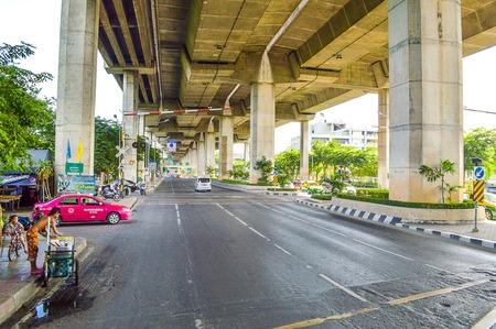 Road in Bangkok City Redactioneel
