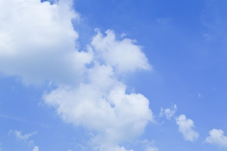 Blue sky and white cloud