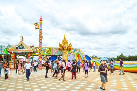 chachoengsao: tourism in Wat Saman Rattanaram Chachoengsao Thailand Editorial