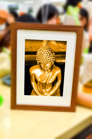 buddha image: buddha statue in picture frame
